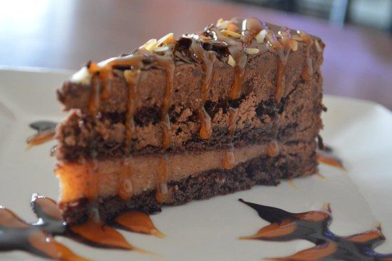 Cambridge Bay, Canada: Chocolate Almond Torte with Caramel Sauce