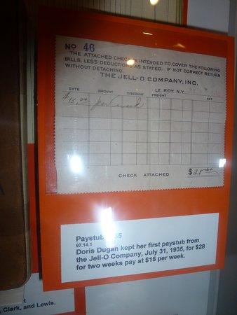 Le Roy, NY: Pay Stub For Jell-O Employee - 1935