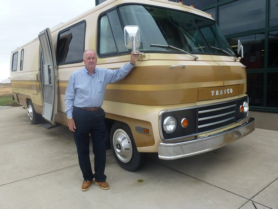 1970 s model dodge travco motorhome exterior display picture of