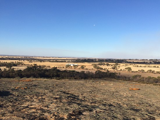 Wagin, Australia: view west from top of rock
