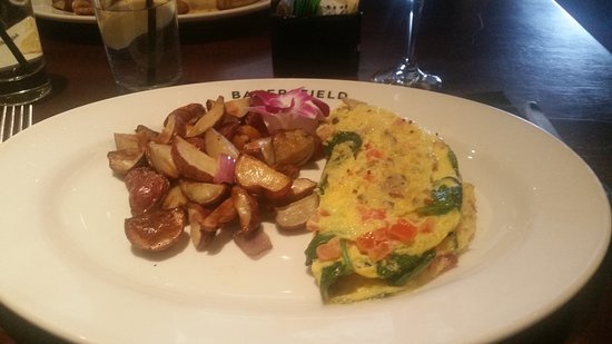 Westmont, IL: Spinach, mushroom omelette
