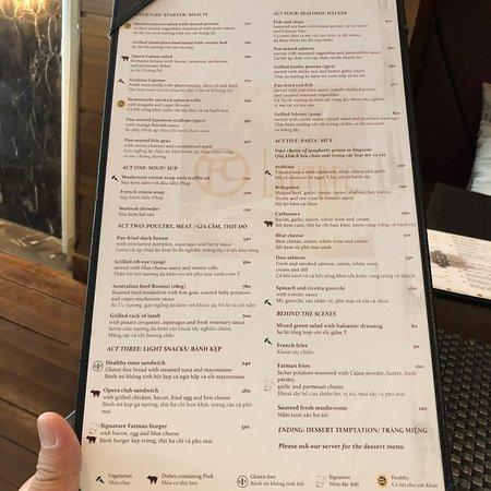 Cafe Lautrec Hanoi Menu