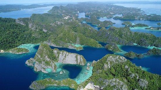 Raja Ampat, Indonesia: Aerial drone  view 2