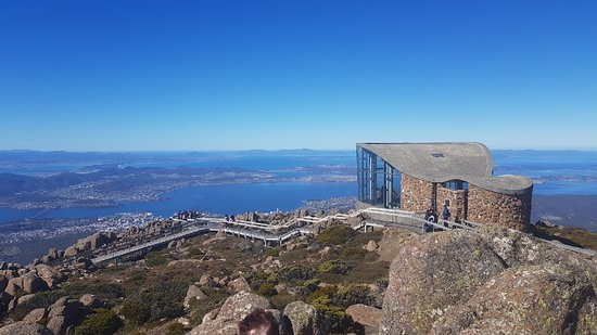 Mt Wellington Descent Bike Ride: Big clear views ( I think we were lucky)