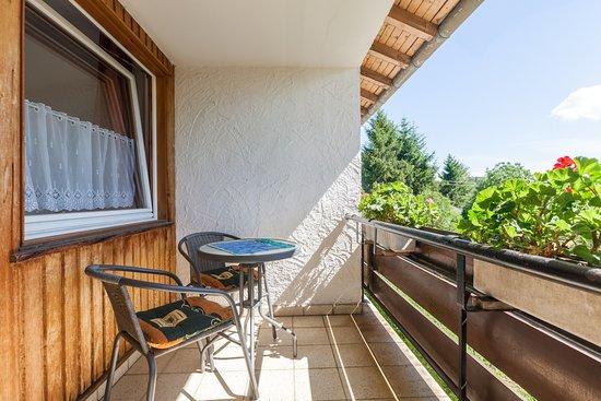 Uehlingen-Birkendorf, Alemania: Zimmer mit Balkon auf der Süd/West-Seite