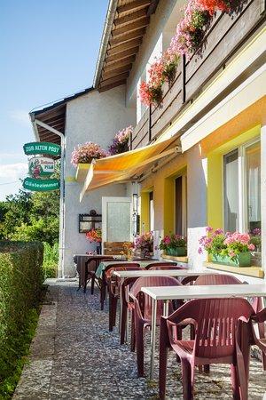 Uehlingen-Birkendorf, Alemania: Restaurant Terrasse auf der Süd/West-Seite