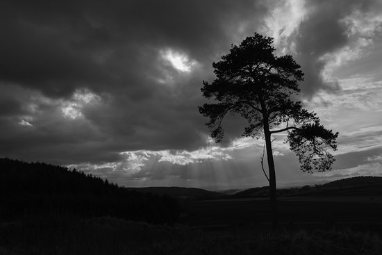 Ross and Cromarty, UK: Dramatic skies photographed from Ormond Hill near the village of Avoch on the Black Isle