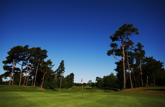 Hever, UK: The 16th green on the Championship Course