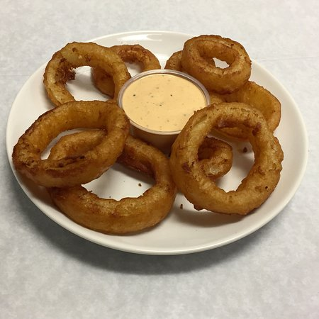 Niskayuna, NY: Beer Battered Onion Rings - Thick cut onion rings dipped in beer batter and fried to a golden cr