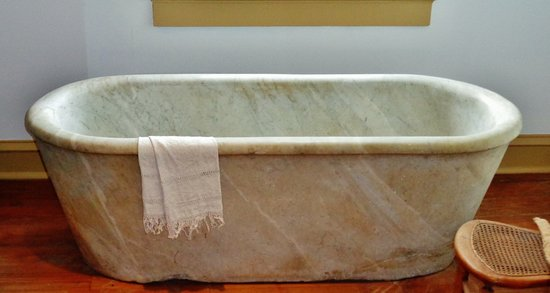 Destrehan, LA: Solid marble bath tub.