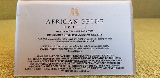 African Pride 15 On Orange Hotel: 20180322_170401_large.jpg