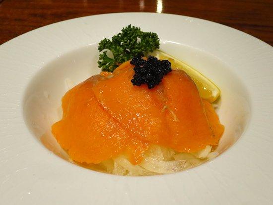 Koedo Kurari Hasshutei: スモークサーモンのマリネ / Marinated smoked salmon
