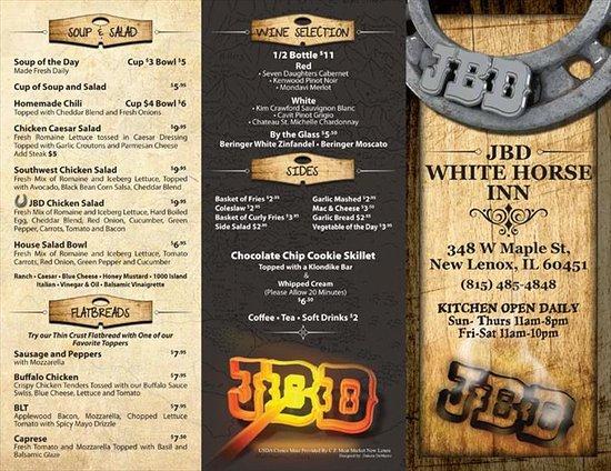 New Lenox, IL: JBD White Horse Inn Menu
