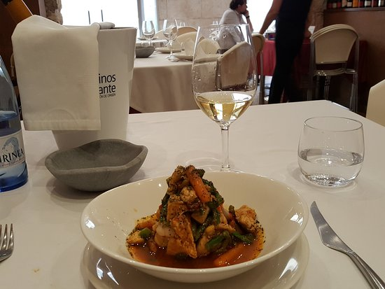 L'Atelier: One of my main courses - a pork and prawn delight