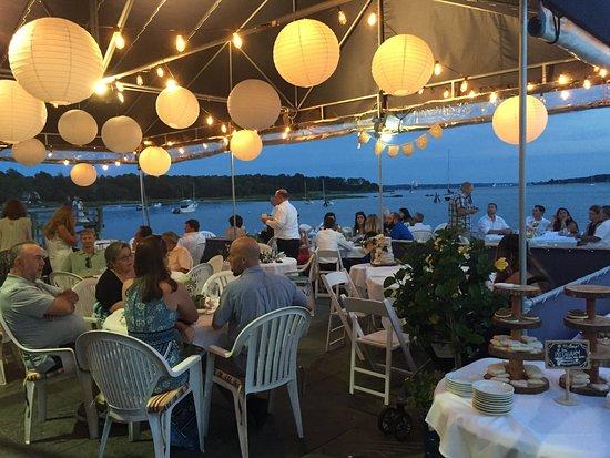 Bristol, RI: Wedding on the patio!