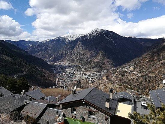 Engolasters, Andorra: vista desde allí