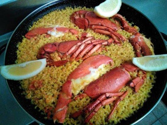 Restaurante Las Vegas - Experts Paellas: ARROZ CON BOGAVANTE EN RESTAURANTE LAS VEGAS PEÑISCOLA - ARROZ CON BOGAVANTE PARA LLEVAR