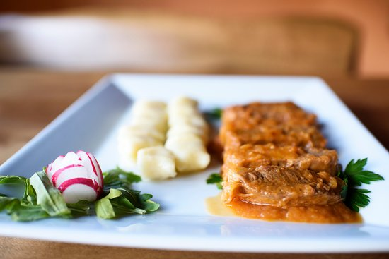 Gornji Karin, Croácia: ramsteak in dalmatian sauce with homemade gnnochi