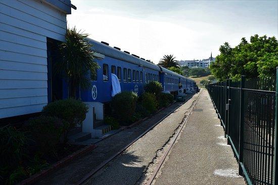 Santos Express: Vista dos vagões com os quartos