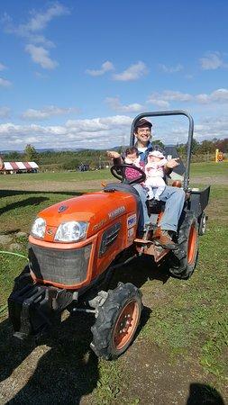 Modena, NY: Farmer with 2 Baby Farmers