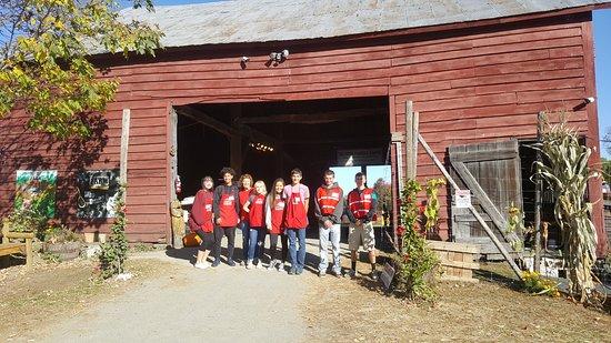 Modena, NY: Hurds Team Outside Historic Barn