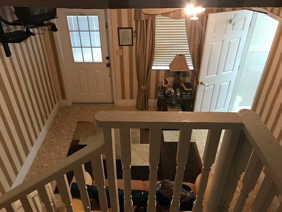 Acklins Island: View from stairs leading to the loft bedroom