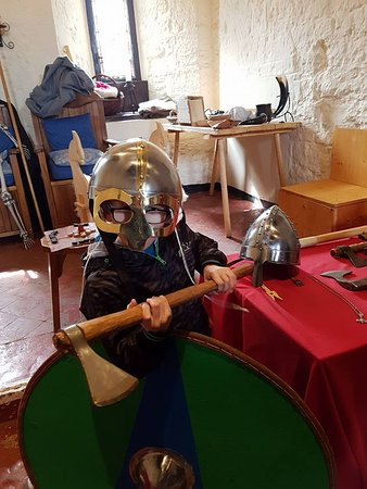 Caldicot Castle: Dressing up my little viking