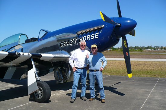 Stallion 51: Lee Lauderback and I next to Crazy Horse 2 before my flight.