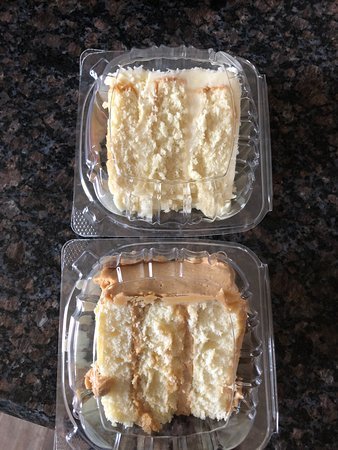 Maxie B's: Coconut Cake and Caramel Cake Slices