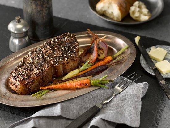 Wayne, Pensilvanya: Our 12 oz. NY Strip Steak Center Cut USDA Choice with Herb Butter, Roasted Cauliflower & Garden