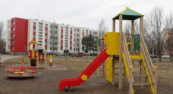Panevezys, Litwa: playground for children