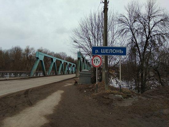 Pskov Oblast, Russia: Железный мост через Шелонь, построенный в начале прощлого века на деньги богатого спонсора.