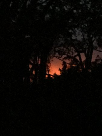 Crater Rim Cabin: the glow from Kilauea