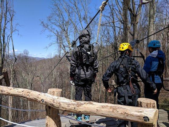 Barnardsville, Carolina del Norte: First zip on the Blue Ridge Experience