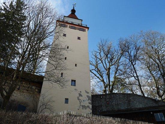 "Biberach (Riss), Germany: Below Gigel Tower (""Gigelturm"")."