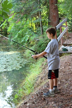 Trinity Center, CA: Fishing in our pond