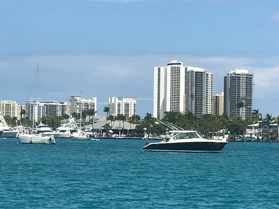 Peanut Island Park: View of Singer Island From Water Taxi