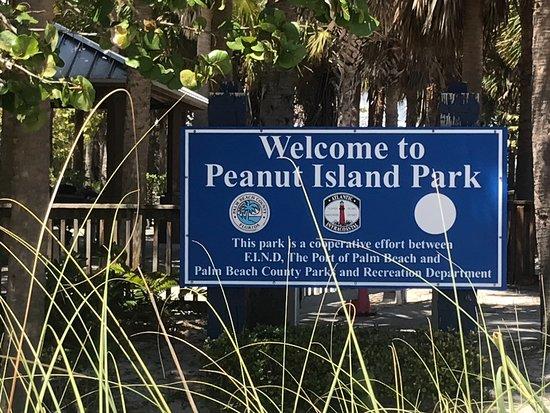 Peanut Island Park Sign