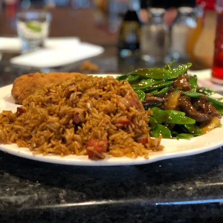 Asia Grille: Beef Pea Pod lunch combo