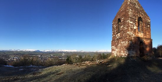 Penrith, UK: The Beacon and snowy mountains
