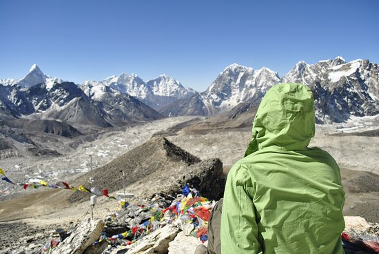Sagarmatha Zone, Nepal: View from Kalapather , Everest