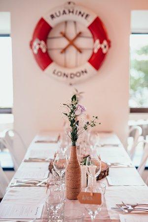 Raumati Beach, New Zealand: A table at the wedding reception