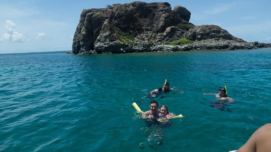 Simpson Bay, St Martin / St Maarten: Snorkeling at Creole Rock.  More happy customers!