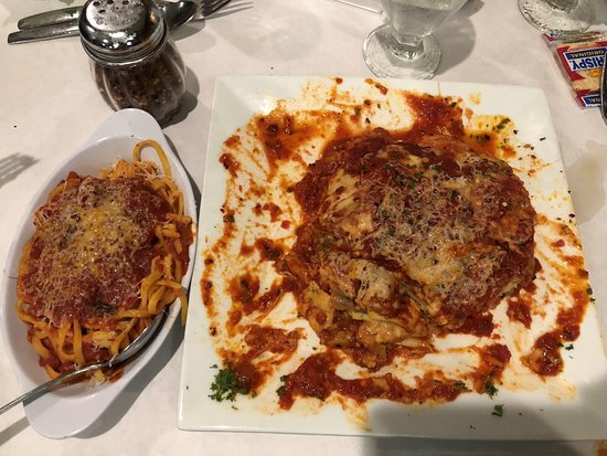 Lancaster, NY: Eggplant Parm - So much food, I could only eat half of it...