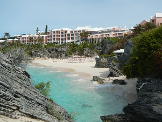The Reefs: View of hotel from Caso's Point (part of grounds)