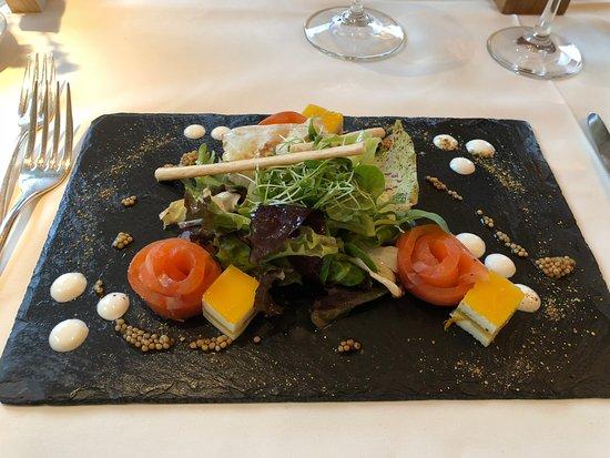 Erlinsbach, Suisse : Herrlich - diese Lachsvorspeise