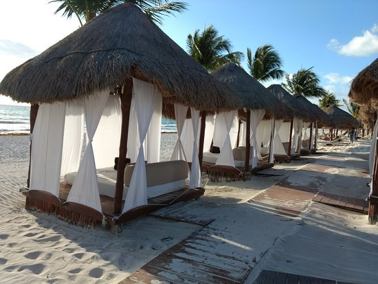 Secrets Maroma Beach Riviera Cancun: Beach beds that cost 50$US per day (included concierge service)