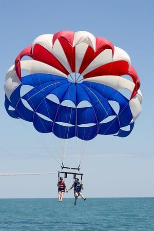 Cocoa Beach Parasail Flying In Love