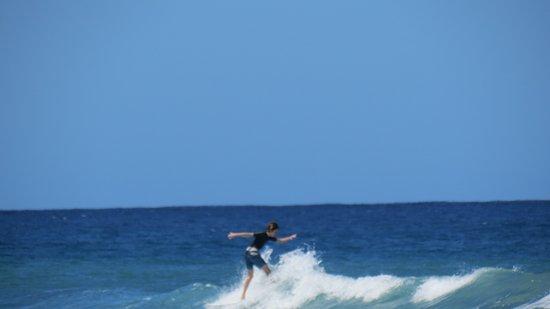 Surf 787: My nephew surfing!