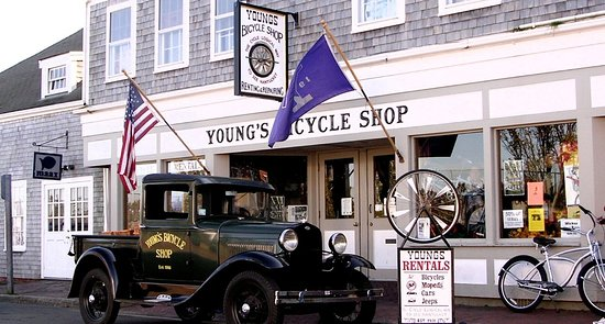 Storefront at Young's Bicycle Shop on Nantucket